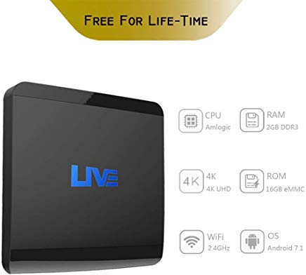 International IPTV Receiver Box,4K Live IPTV Box 2G RAM 16GB ROM Lifetime  Subscription 1500+ Global Live Channels from From Brazilian Arabic India US