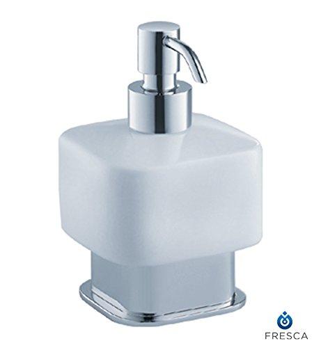 Fresca Bath FAC1361 Solido Free Standing Lotion Dispenser, Chrome
