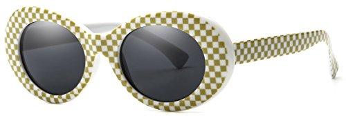 b320e417bd Jual Retro Oval Mod Thick Frame Clout Goggles Kurt Cobain Sunglasses ...