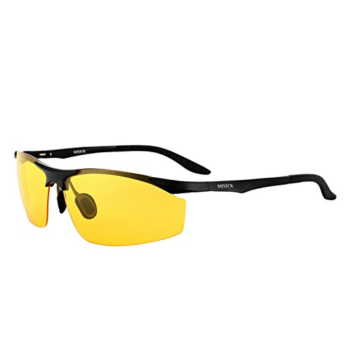 Polarized Sunglasses With Aluminum & Magnesium Frame For Driving & Sports (black-2, - Peeling Sunglasses