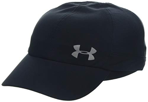 Under Armour Women's Microthread Fly By Cap, Black (001)/Silver, One Size ()
