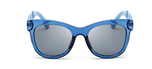 Sol Nueva Gris anteojos Wfkjj la de ash Todo tricolores blue Transparent full Marco la del Marco de de Moda Multicolores Gafas Transparente qYpBE