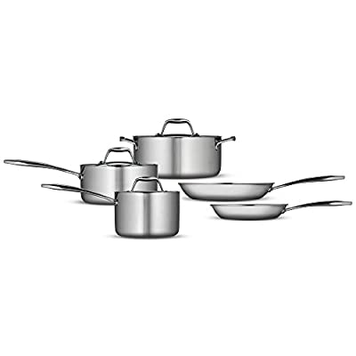 Tramontina Gourmet Tri-Ply Clad 8 Piece Cookware Set
