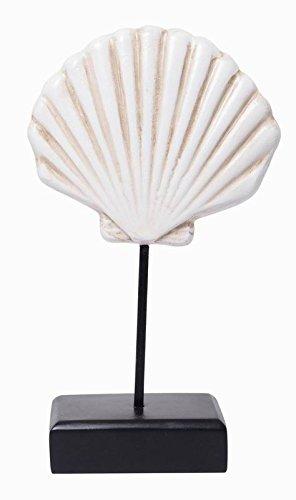 Hosley Decorative Shell Table Top 11'' H. Ideal Nautical Deco Gift for Wedding, Home, Party Favor, Spa, Reiki, Meditation, Bathroom Settings O7