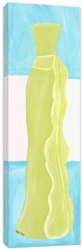 Doodlefish Wall Art, Shades of Green Dress, 12''x36'' by Doodlefish