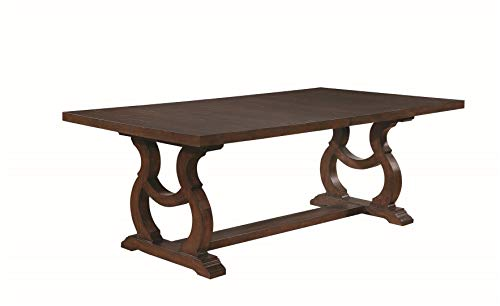 Glen Cove Dining Table with Trestle Antique Java (Extendable Chairs Table Dining 6 Seater And)