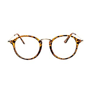 GAMT Round Hipster Glasses Clear Full Frame Eyeglasses for Men and Women