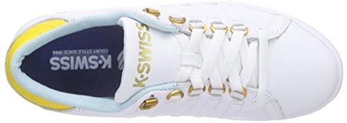 K-Swiss Lozan Iii - Zapatillas Mujer Blanco - Weiß (WHT/CLRWTR/FREESIA 174)