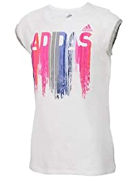adidas Little Girls 'On a Roll - Camiseta de manga corta con logotipo gráfico