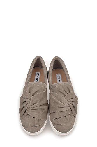 Steve Madden Slip On Sneakers Donna SMSKNOTTYR1GRY Camoscio Grigio