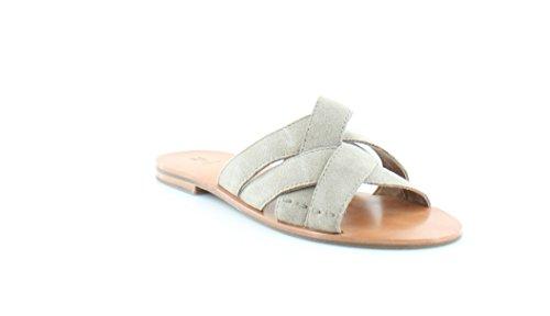 FRYE Womens Carla Criss Cross Open Toe Casual Slide Sandals, Ash, Size 7.5