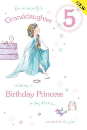 For A Beautiful Granddaughter Age 5 Birthday Card Lovely Verse Amazoncouk Office Products