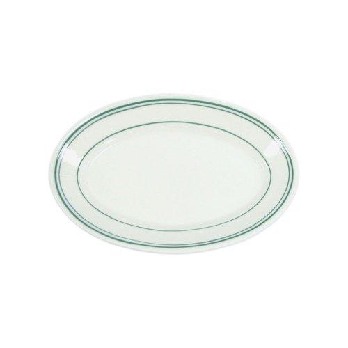Homer Laughlin China 1581 Green Band Oval 15