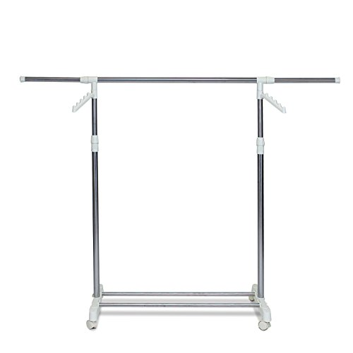 Furinno FNBK-22085 Heavy Duty Single Level Retractable Rolling Drying Rack