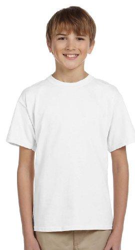 Gildan Ultra Cotton Youth T-shirt (Gildan boys Ultra Cotton T-Shirt(G200B)-WHITE-XL)