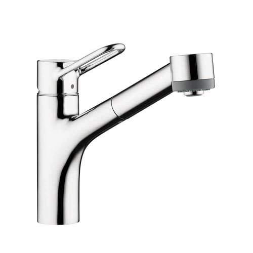 hansgrohe chrome kitchen faucet - 2