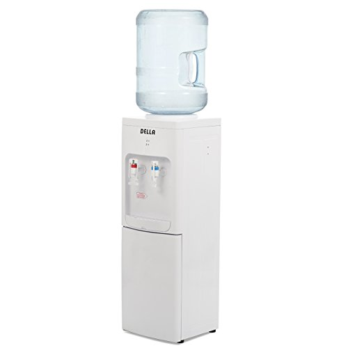 DELLA | Water Dispenser | Water Cooler | Stand Up | Hot Room Cold Temp | Push Lever | Child Safety Lock | Office | Home | White (Cooler Tabletop)