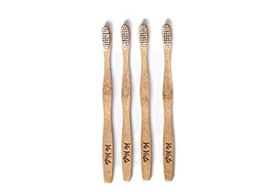 Natural Eco Friendly BAMBOO Toothbrush - Medium Bristles - Biodegradable - BPA Free Bristles