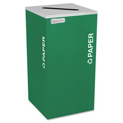 Fire Safe Half Round Container - Ex-Cell - Kaleidoscope Collection Recycling Receptacle, 24 gal, Emerald Green - Sold As 1 Each - Containers come in half-round and square shapes for custom configuration.