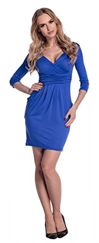 4XL Glamour Coeur Cache Tulipe Femme Bleu S Robe avec dcollet Empire Poches Royal 236 qARrqZwx