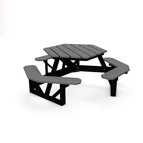 - Frog Furnishings PB 6HEXGRA HEX Picnic Table, 6', Gray