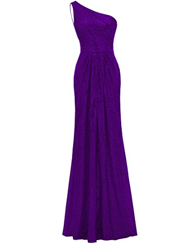 Mermaid Dresses Wedding Shoulder Purple One Party Sequined Women's Gown Long SOLOVEDRESS Bridesmaid Hnq50Rw08