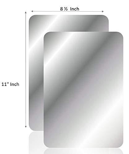 (Q-Bics Flexible Mirror Sheets   Mirror Stickers 8 1/2