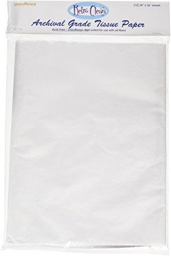 """Retro Clean Archival Grade Tissue Paper Buffered-24/""""X36/"""" 12//Pkg"""