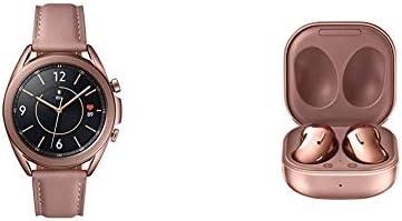 Samsung Galaxy Watch 3 (41mm, GPS, Bluetooth) Smart Watch - Mystic Bronze with Samsung Galaxy Buds Live, T, Mystic Bronze