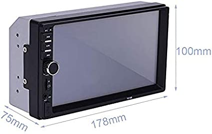 ePathChina Double Din Touch Screen Car Stereo MP5//4//3 Player FM Radio Video Support Backup Rear-View Camera Mirror Link 7 inch