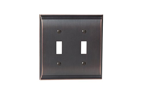 Amerock BP36501ORB Candler 2 Toggle Wall Plate - Oil-Rubbed Bronze