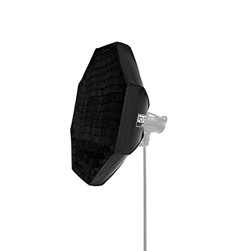 22 Inch Grid - Fovitec - 1x 32 inch Octagon Photography Travel Beauty Dish Bowens w/Grid Quick EZ Set Up - [Lightweight][Durable Nylon][Easy Set-up][Bowens Mount]