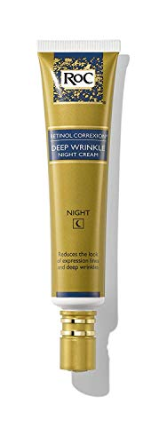 RoC Retinol Correxion Deep Wrinkle Anti-Aging Retinol Night Cream, Oil-Free and Non-Comedogenic, 1 Fl Oz