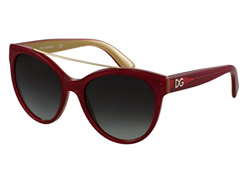 Dolce & Gabbana Women's 0dg4280 Round Sunglasses, Top Red on Gold, 57 mm by Dolce & Gabbana (Image #1)