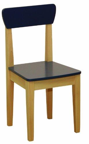 roba 50773 - Silla para ninos, de madera maciza, tableros de fibra de densidad media, pintado con asiento y respaldo pintado de azul 59 x 28,5 x 29,5 cm, fabricante del asiento: 31 cm [importado de Alemania]