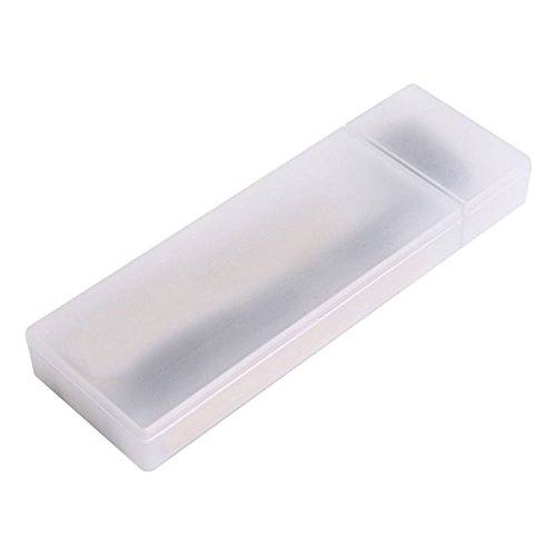 - MyLifeUNIT Polypropylene Plastic Pencil Box, Multipurpose Clear Pencil Case with Divided Storage Compartments