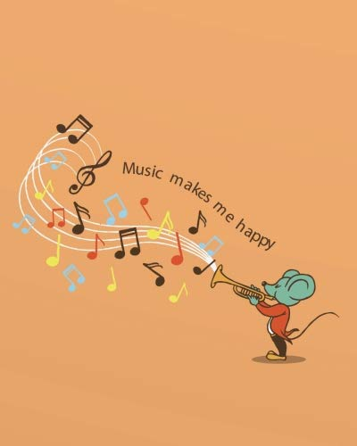 Music Teachers Record Book - Music makes me happy: 2018-2019 Music Teacher calendar Weekly and Monthly Teacher Planner,  Lesson Planner and Record Book 8 x 10 inches,  150 pages ... Teacher Planner 2018-2019 Series) (Volume 6)
