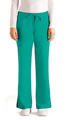 Pkt Drawstring (Grey's Anatomy Bottoms 4232P Female 5 Pkt Drawstring Pant)