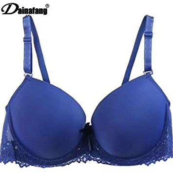Amazon.com: GuiZhen Comfortable Bra Fashion Solid White Brand Push Up Fashon Bow Lace Adjusted Bras for Women D E Cup: Garden & Outdoor