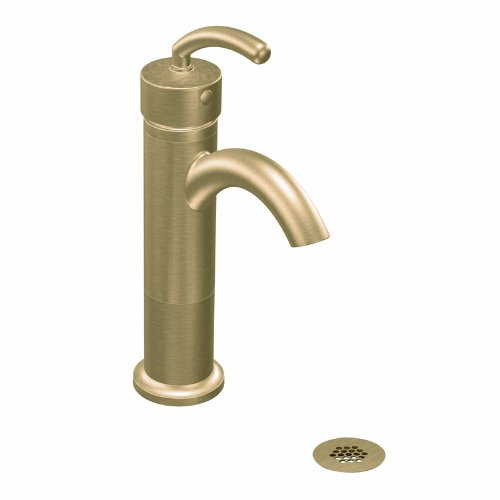 Moen 6500BB Icon One Handle Low Arc Bathroom Faucet - Brushed Bronze (Not CA/VT Compliant)