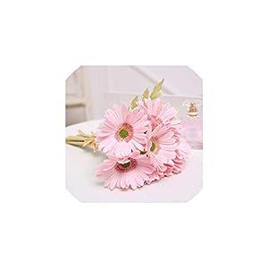 Natural Fresh PU Silk Flower 36cm 1pc Artificial Flower Fake Gerbera Flower,Pink 120