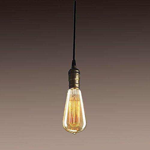 promo code 36a09 e0095 Retro Industrial Bronze Edison Bulb Hanging Lamp Full Set Pendant Light  Fixture
