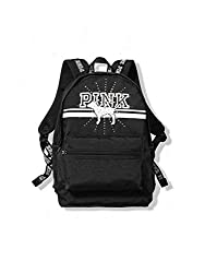 Black Campus Backpack With Rhinestone Bling Dog