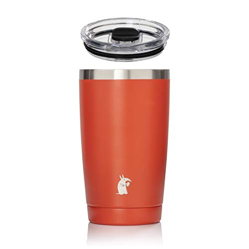 (Thirsty Aardvark 16 oz Pint Tumbler, Double Wall Vacuum Insulated, Stainless Steel Blood Orange Cup with Lid (Blood Orange, 16 oz) )