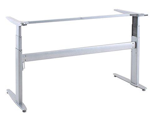 Ergobasis elektrisches Tischgestell Inno-Serie 3 Strong MEMORY, Breite 152 cm, silber