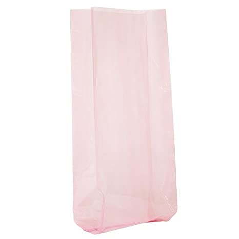 Cellophane Bags, Pastel Pink, 30 Count