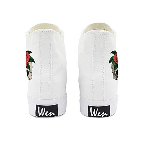 Ayuda Al Aire Alpargatas De De White De Lona Encaje De Zapatos Plana Damas Otoño Libre Nuevos 48 Nuevas Cubierta Alta Mujer Zapatos Amantes De Los De Primavera Zapatos 1xtqIwn6UH