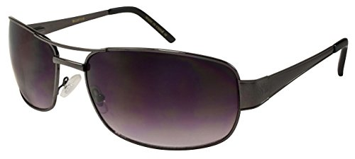 Edge I-Wear Extra Large Aviator Style Metal Frame Sunglasses BG20731S-AP-2 - 2 Large Metal Aviator