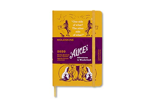 Moleskine Limited Edition Alice in Wonderland 12 Month 2020 Weekly Planner, Hard Cover, Pocket (3.5 x 5.5) Yellow