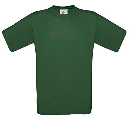 B&C - Camiseta - para hombre verde verde botella